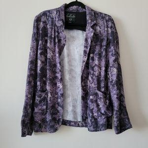 Aritzia Talula Kent blazer, purple pattern.
